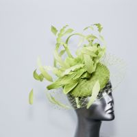 Lime green veiled lily flower hatinator  14799/ SD268
